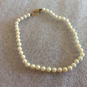 Napier Hand Knotted Faux Pearl Necklace